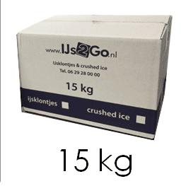 15 Kg ijsblokjes